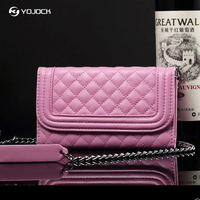 Yojock Luxury Mini Wallet Case For Iphone 6 7 8 Fashion Mirror Women Purse Cover For