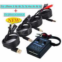 Netzteil iPower test Kabel für iPhone xs xsmax xr 8G 8P X 7G 7P 6S 6SP 6G 6P DC Power control test Draht