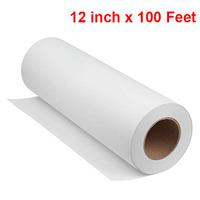 12inch x 100 Feet White Craft Paper Roll Kraft Perfect for Crafts, Art, Painting, scrapbooking paper packs, wrapping paper