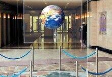 Lámina de pantalla de proyección trasera adhesiva transparente óptica holografía 1.524 m x 3 m (película) para vidrio/publicidad, envío gratuito de fedex