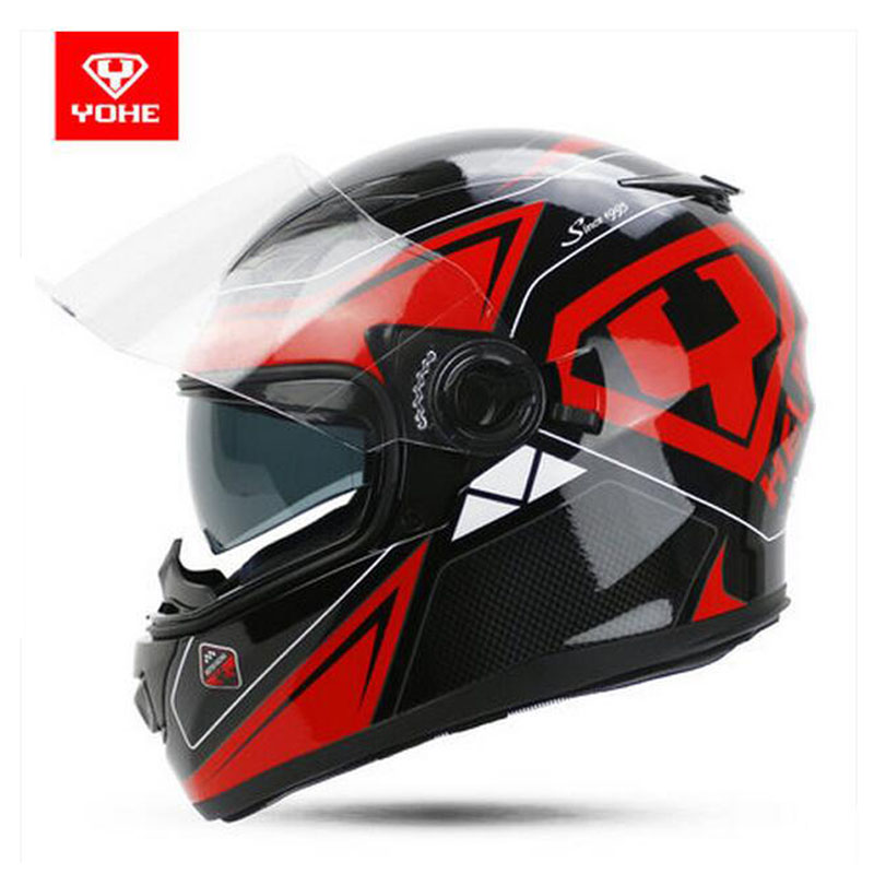 2017 Summer New YOHE Full Face Motorcycle helmet YH-970 Motocross motorbike helmets of ABS 10 kinds of colors size M L XL XXL yohe full face motorcycle helmet yh 967 double lense full cover motorbike helmets made of abs pc lens visor have 9 kinds colors