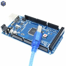 Mega 2560 R3 Mega2560 REV3 ATmega2560-16AU MEGA16U2 Board + USB Cable compatible for arduino(China (Mainland))
