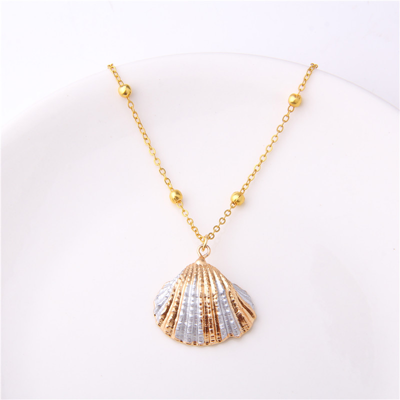 2019 Boho Conch Shell Necklace Sea Beach Shell Pendant Necklace For Women Collier Femme Shell Cowrie