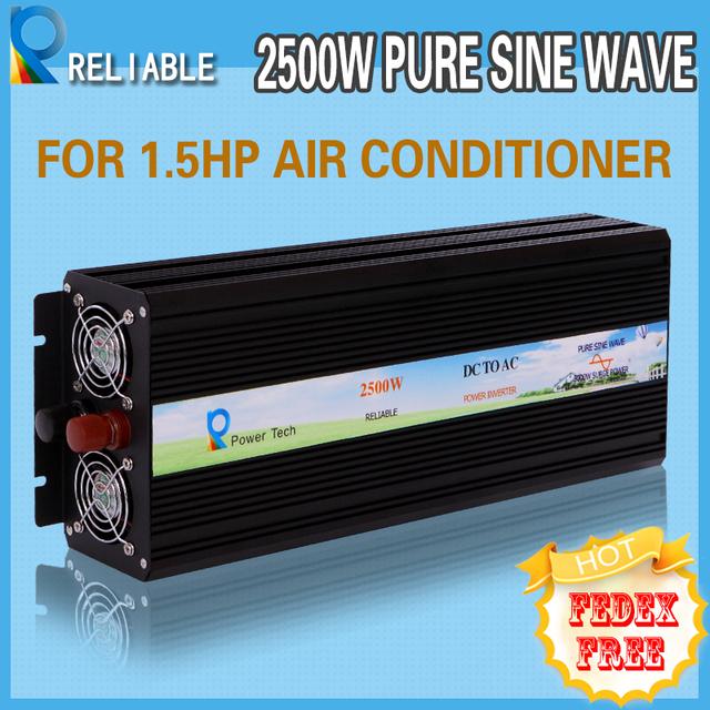 LED Displays 2500w 12v 220v off-grid inverter Dc to Ac voltage converter solar system true pure sine wave solar power inverter