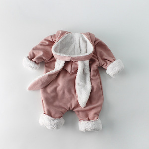 Image 3 - Winter Baby Girl Romper Long sleeved Clothes For Baby And Rabbit Ears Newborn Baby Boy Clothes