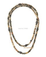 Riverstone Corail Perles Superposition Long Collier avec Strass Balle et Pyrite Rondelles Accents N17040108