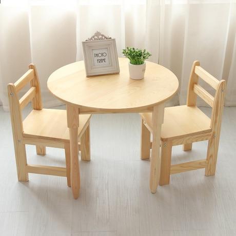 Kinder Möbel Sets Ein Schreibtisch Zwei Stühle Sets Kiefer