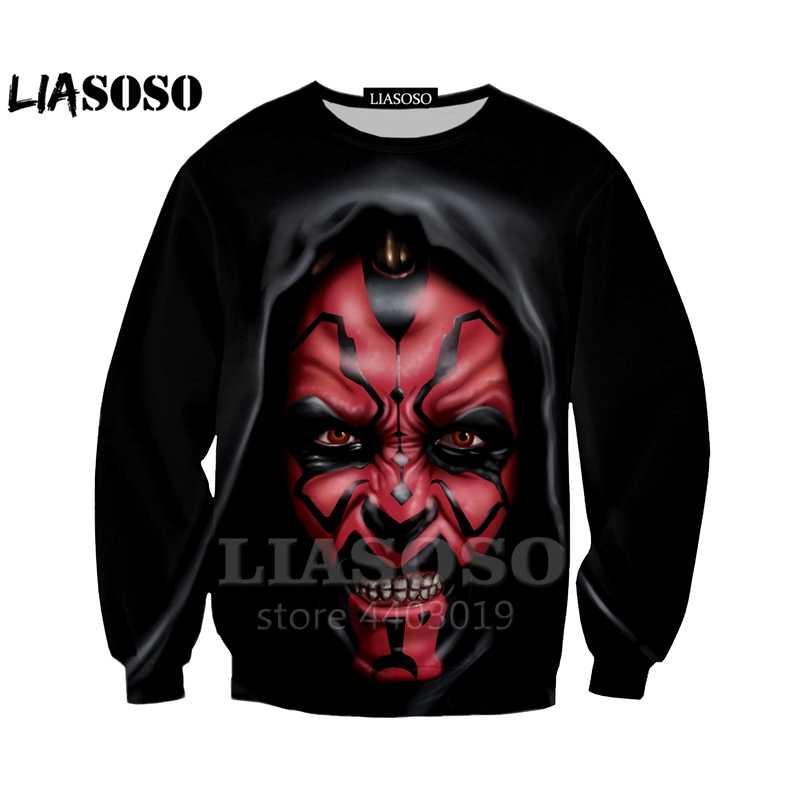 LIASOSO Gömlek Erkekler/Kadın 3D Darth Maul Süvari t-shirt Komik Tees Casual Kısa Kollu t gömlek/Hoodie/ kazak Unisex A047-10