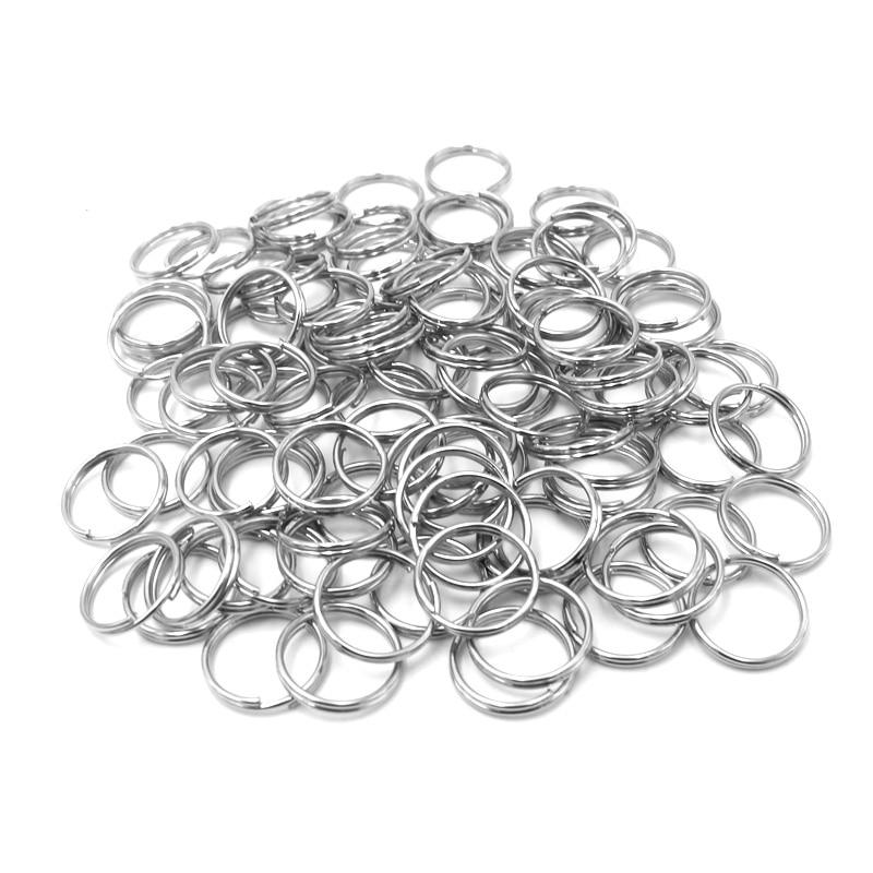 Кольца для собак 10 мм, круглый брелок, металлическое кольцо «сделай сам» для домашних животных, Id, собак, кошек, разделенные кольца для ключе...
