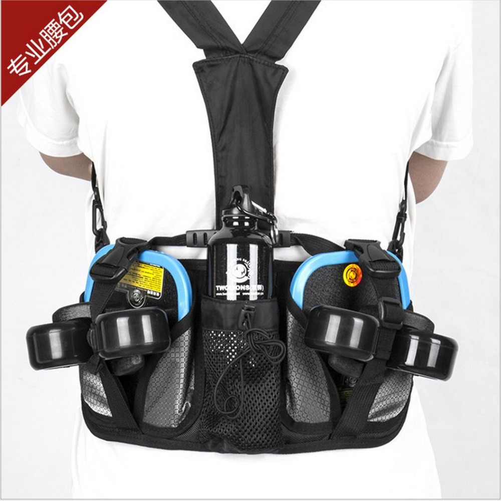 TwoLions Professional Free Line Skate Waist Pocket Polyester Drift Board Waist Bag/HandBag Outdoor Sport Waist Purse Waist Pack