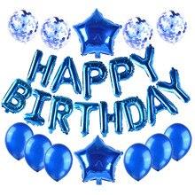 16-inch aluminum film letter happy birthday party decoration supplies children activities Globos helium balloons