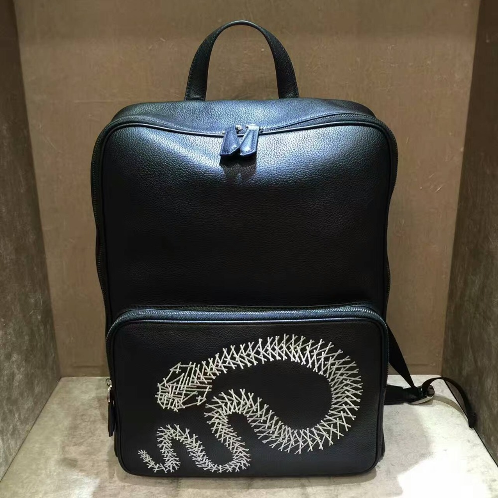 TERSE_Fashion leather backpack handmade top quality genuine leather school bagpack male black custom service T88LN0489-3 delivering quality service a pharmaceuticals sector s perspective