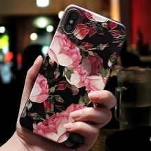 3D Flowers Phone Cases iPhone 6 6s Plus 7 8 Plus X XR XS Max