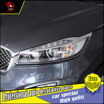 Car Styling ABS faro e la coda Lamp covers trim Per KIA Sorent L 2015 2016 Auto copertura della lampada della luce trim Decorazione Accessori