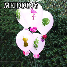 MEIDDING-Glitter Flamingo/Pineapple/Palm Leaves Paper Sticker wish latex balloon Engagement Party Bridal Shower/Wedding supplies