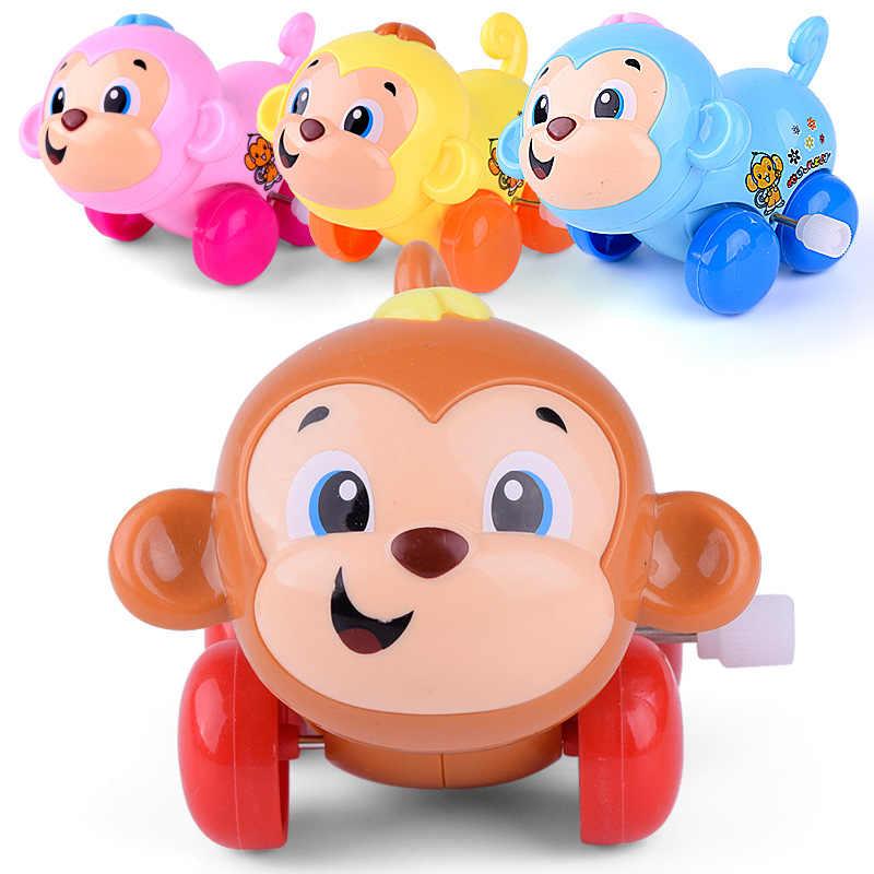 Leuke Cartoon Puppy Kitten Wind Up Hoofd Schudden Dieren Clockwork Speelgoed Onderwijs Kids DIY Klassieke Wind-up Speelgoed Willekeurige kleur Geschenken