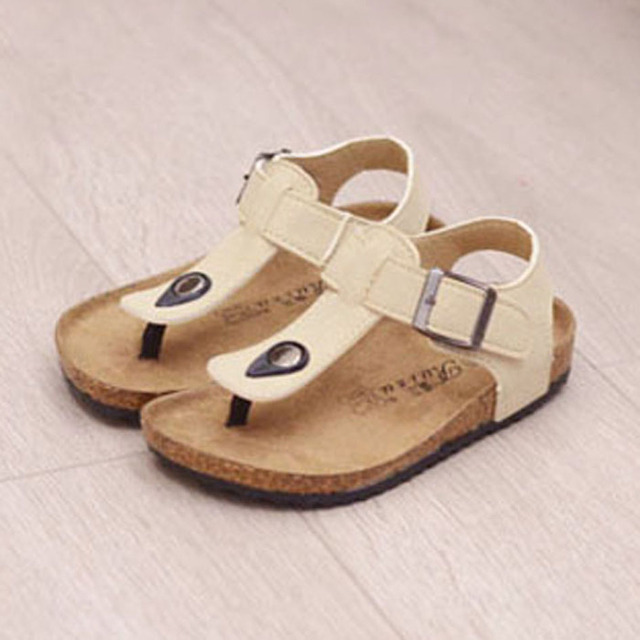 9b5899dc6685d US $18.49 |Kids Cork Sole Clogs 2017 Vintage Kids Summer Sandals Unisex  Girls Flip Flops Boys Beach Shoes Children Mules with Buckle-in Sandals  from ...