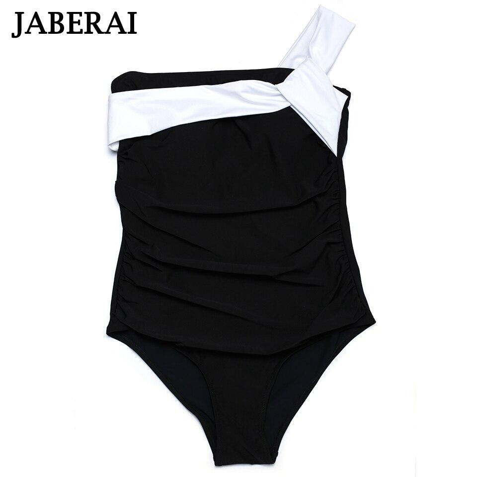 2017 New Arrival One Piece Suits Sexy Black Swimwear One Shoulder Swimsuit Padded Solid Beachwear Women Bathing Suit 2