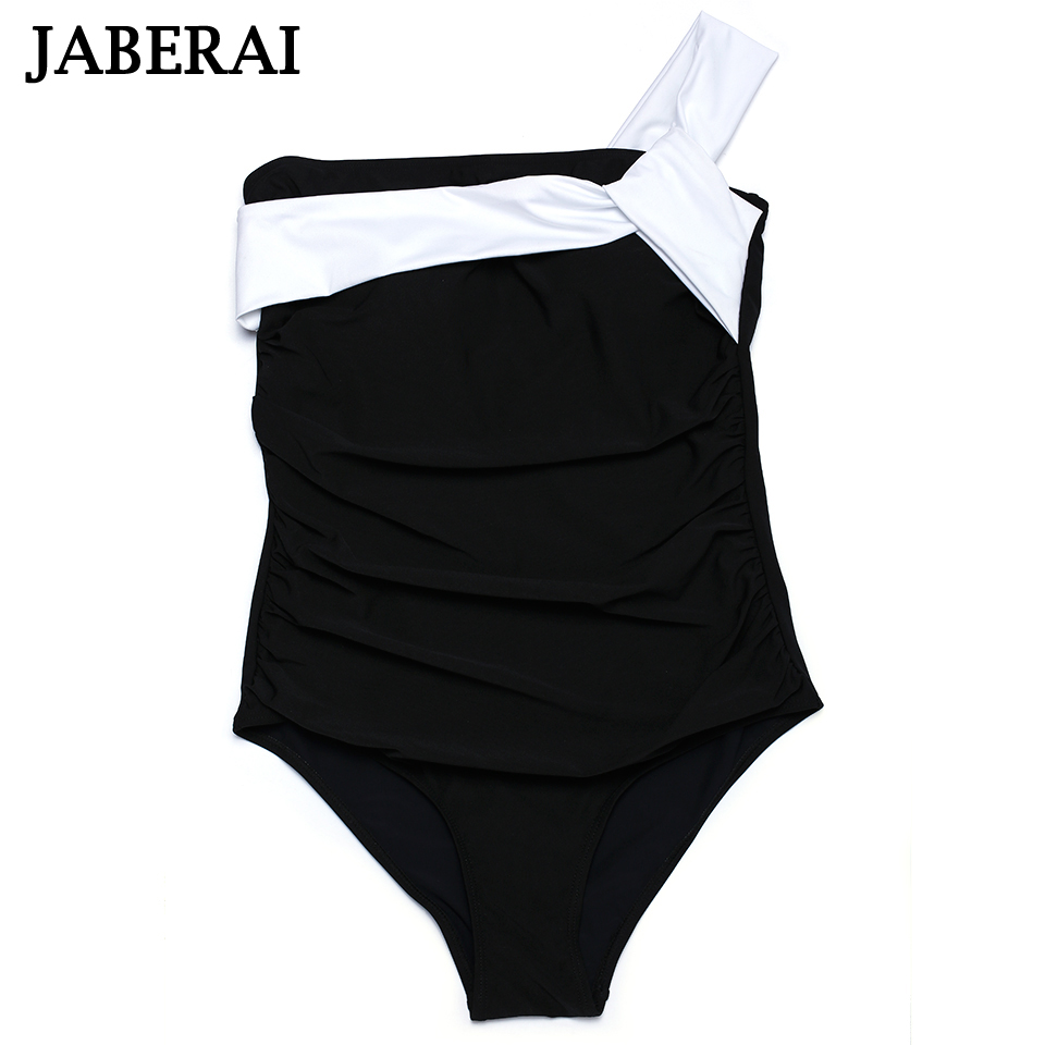 2019 New Arrival One Piece Suits Sexy Black Swimwear One Shoulder Swimsuit Padded Solid Beachwear Women Bathing Suit 2