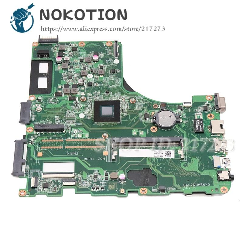 NOKOTION For acer Asipre E5-411 laptop motherboard DDR3 DA0ZQMMB6H0 DBMRX11003 DB.MRX11.003 NBMLQ11009 NBMLQ110096