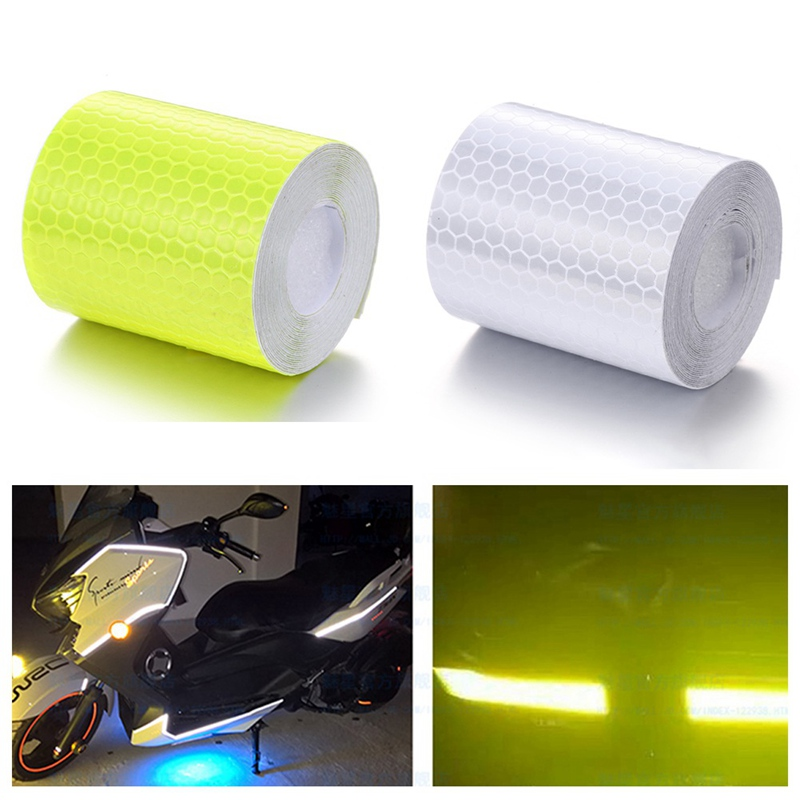 5cmx3m Reflective Bicycle Stickers Adhesive Tape for Bike Safety White Red Yellow Blue Bike Stickers Bicycle Accessories 3