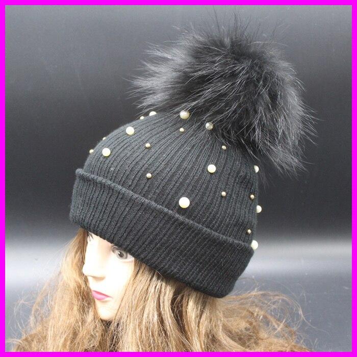 e6b6277212a32 Women Winter Hats Crochet Beanie Knitted Caps For Women Brand Designer Fur  Pom pom Hat-in Women s Skullies   Beanies from Apparel Accessories on ...