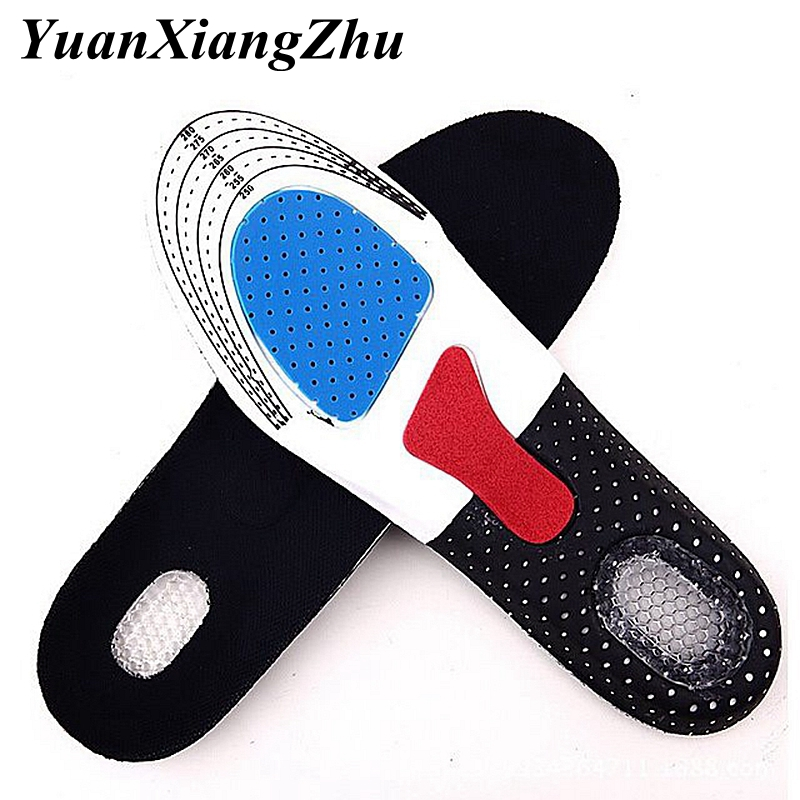 silicone insoles for shoes insole arch support sport shoes pad unisex thickening shock absorption Shoes Pads Soft Insole P D in Insoles from Shoes