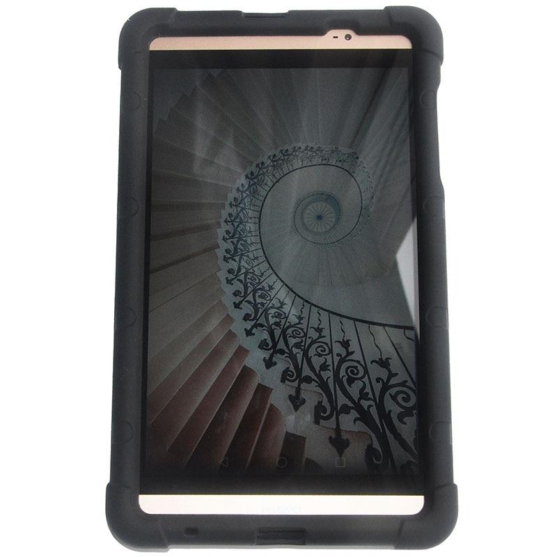 MingShore para Huawei MediaPad M2 8.0 801l Funda con silicona para banda de mano para Huawei M2 8,0 pulgadas M2-801w 803l Funda resistente para tableta