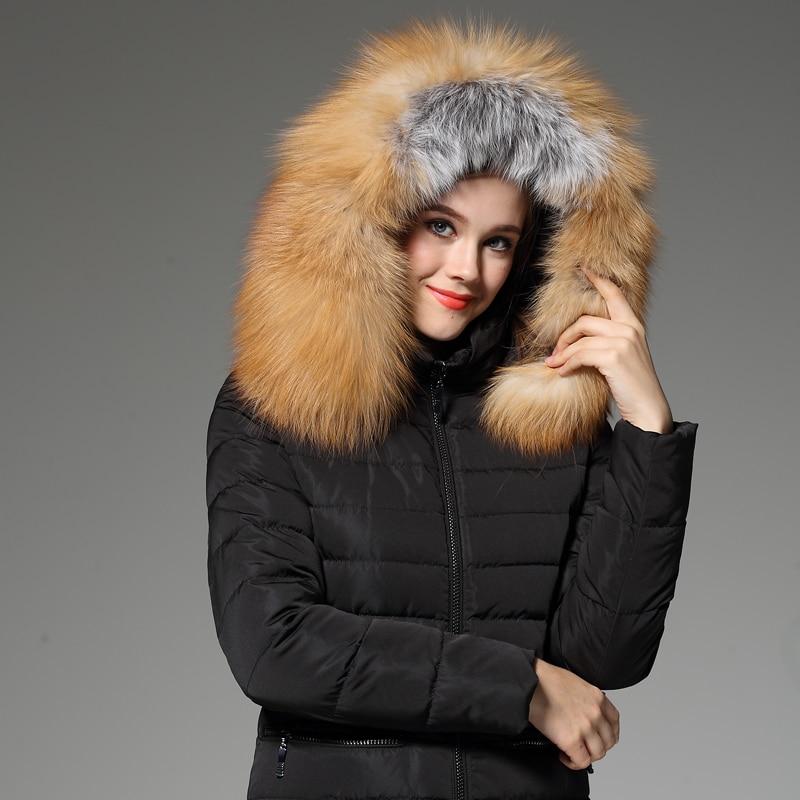 forlænget fortykning termisk slank rævpels-dunfrakke NY JAKKE - Dametøj - Foto 3