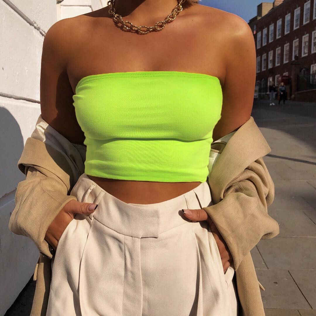 2019 Zomer Mouwloze Womens Bralette Plain Uit Schouder Vest Crop Top Tank Tops Bh Bustier Party Solid Sexy Hot Kleding