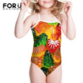 Brand Candy Color Print Girls Swimwear Baby Kids Swimwears Bandage One-piece Infantil Swimsuits Children Girl for 3-8 years