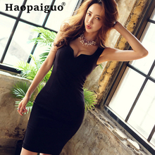 Plus Size Black Sexy Party Dress Women Deep V-neck Bandage Bodycon Dress Women Solid Sleeveless Mini Dress Club Wear for Ladies pu leather panel plus size sleeveless bandage mini dress