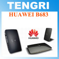 Abierto original de huawei b683 3g 21.6 7.2mbps de wcdma 900/2100 mhz hspa + wireless gateway router inalámbrico wlan router