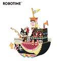 Robotime Neue Ankunft DIY 3D Angeln Kitty Holz Puzzle Spiel Montage Bewegliche Musik Box Spielzeug Geschenk für Kinder Kinder Erwachsene AMD42