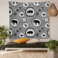 HommomH Tapestry Art Decor Wall Hanging in Dorm Living Room Bedroom Retro Mandala Pattern Elephant Giraffe Ostrich Monkey