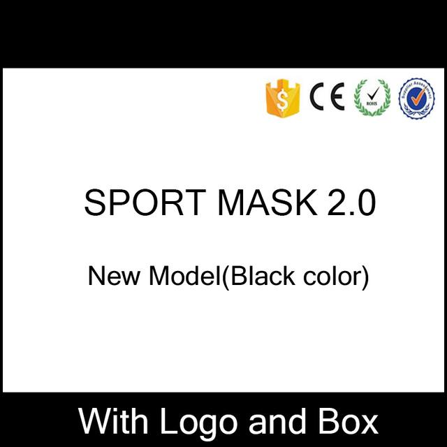 Nuevo Modelo de Color Negro Más Nuevo Deporte Entrenamiento Máscara 2.0 Para Los Hombres de Fitness Deporte Al Aire Libre Con Insignia de la Caja Y el Envío Rápido