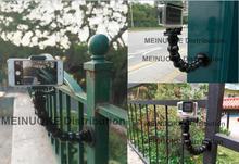 Magnetic Magnet Selfie Stick Mount w gooseneck arm for gopro hero sjcam xiao yi mi action