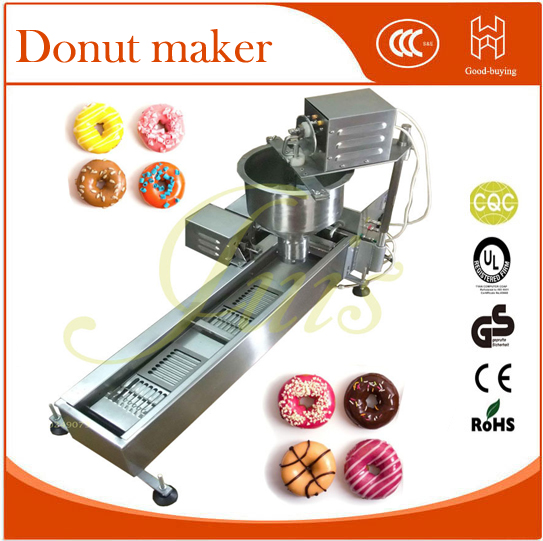 DHL Snack machine Automatic commercial waffle baker donuts fastfood  Fries mini Donut maker  automatic commercial plum donut baking machine cake sweet donuts maker