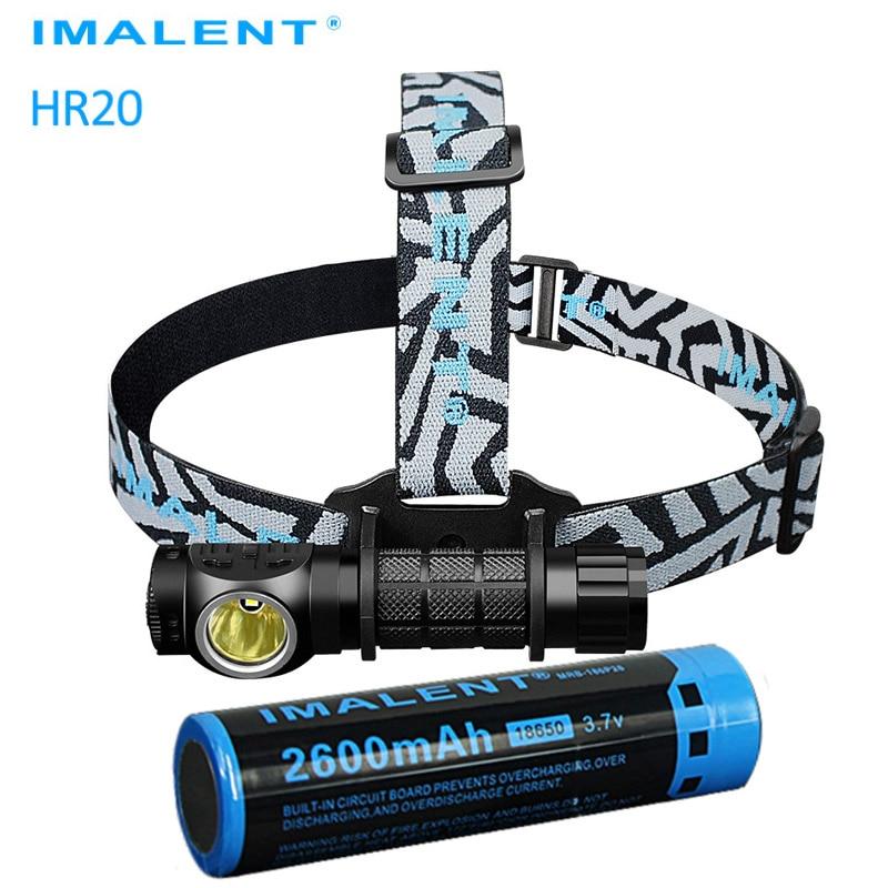 IMALENT HR20 USB rechargeable lampe frontale CREE XP-L SALUT led max 1000LM faisceau distance 225 meter phare avec 18650 batterie li-ion