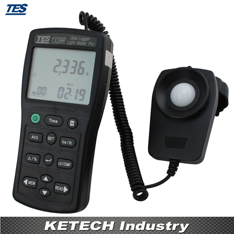 Data Logger Light Meter Tester 0.01 to 999900 Lux PC Data Record TES1339R