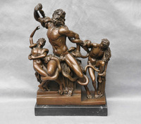 Bi002036 14 бронзовая мифология греческое море Бог Искусство Скульптура Статуя