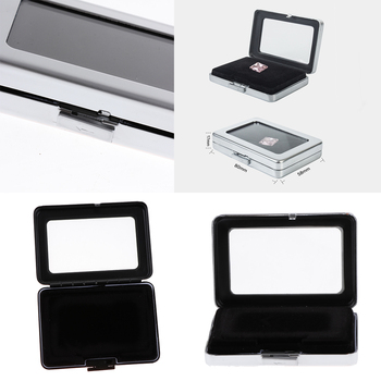 2 uds caja de almacenamiento de diamantes de GEMA de lujo, caja organizadora de joyas, almohadilla ajustable de terciopelo de doble cara