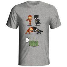 Rich Tony Stark VS Wealthy Bruce Wayne T Shirt Super Hero Iron Man Crossover Batman T-shirt Awesome Cool Design Cotton Gray Tee