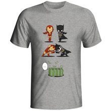 Rich Tony Stark VS Wealthy Bruce Wayne T Shirt Super Hero Iron Man Crossover Batman T