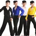 Новые Мальчики Латинской Сальса Танцевальные Костюмы Дети Бальные Производительность Партия Танец одежда топы + Брюки vestido де бейл латино