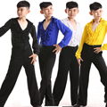 New Boys Latin Salsa Dancing Costumes Kids Ballroom Performance Party Dance wear tops+Pants vestido de baile latino