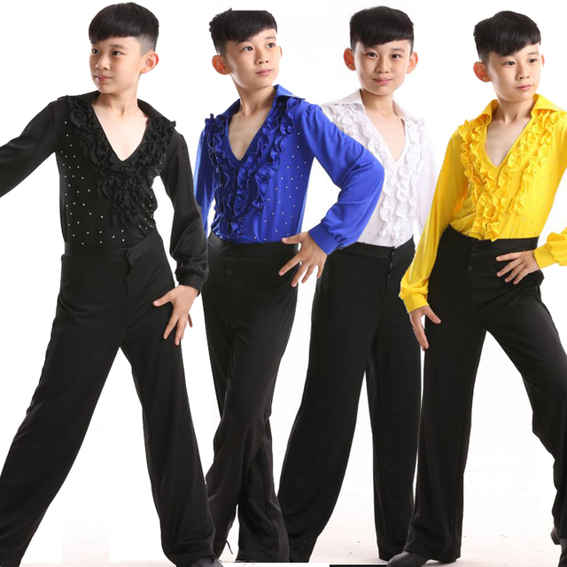 d1439cdde New Boys Latin Salsa Dancing Costumes Kids Ballroom Performance ...