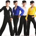 Nova Meninos Latin Salsa Festa de Dança desgaste Desempenho Trajes de Dança de Salão Crianças encabeça + Calças vestido de baile latino