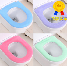 5PCS/SET HOT Sale Fashion O-rings warm toilet seat Cover MAT Toilet pad cushion bathroom mat free shipping