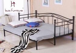 النمط الأوروبي الحديد السرير الحديثة أثاث غرفة نوم سرير الاميرة طالب أريكة تتحول لسرير للأطفال يمكن طيها قابل للسحب